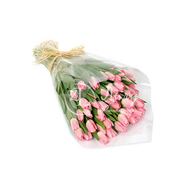 Розовые тульпаны