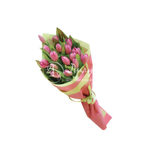 Каскад из тюльпанов