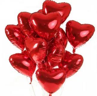 Гелевые шары фольгированные сердце