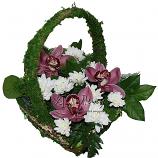 Корзинка из орхидей